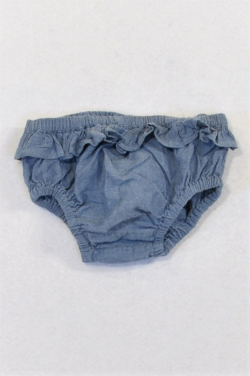 Next Chambray Frill Trim Bloomers Girls 0-3 months