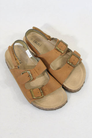 New Woolworths Size 13 Brown Leather Sandals Boys 6-7 years