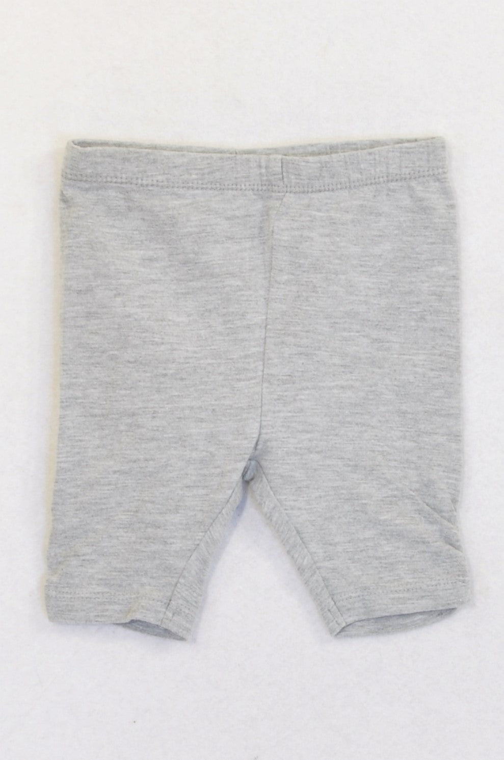 Woolworths Grey Cropped Ruched Leggings Girls 3-6 months