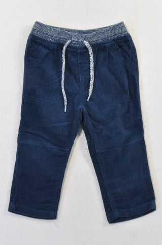 Ackermans Navy Corduroy Heathered Banded Pants Boys 12-18 months