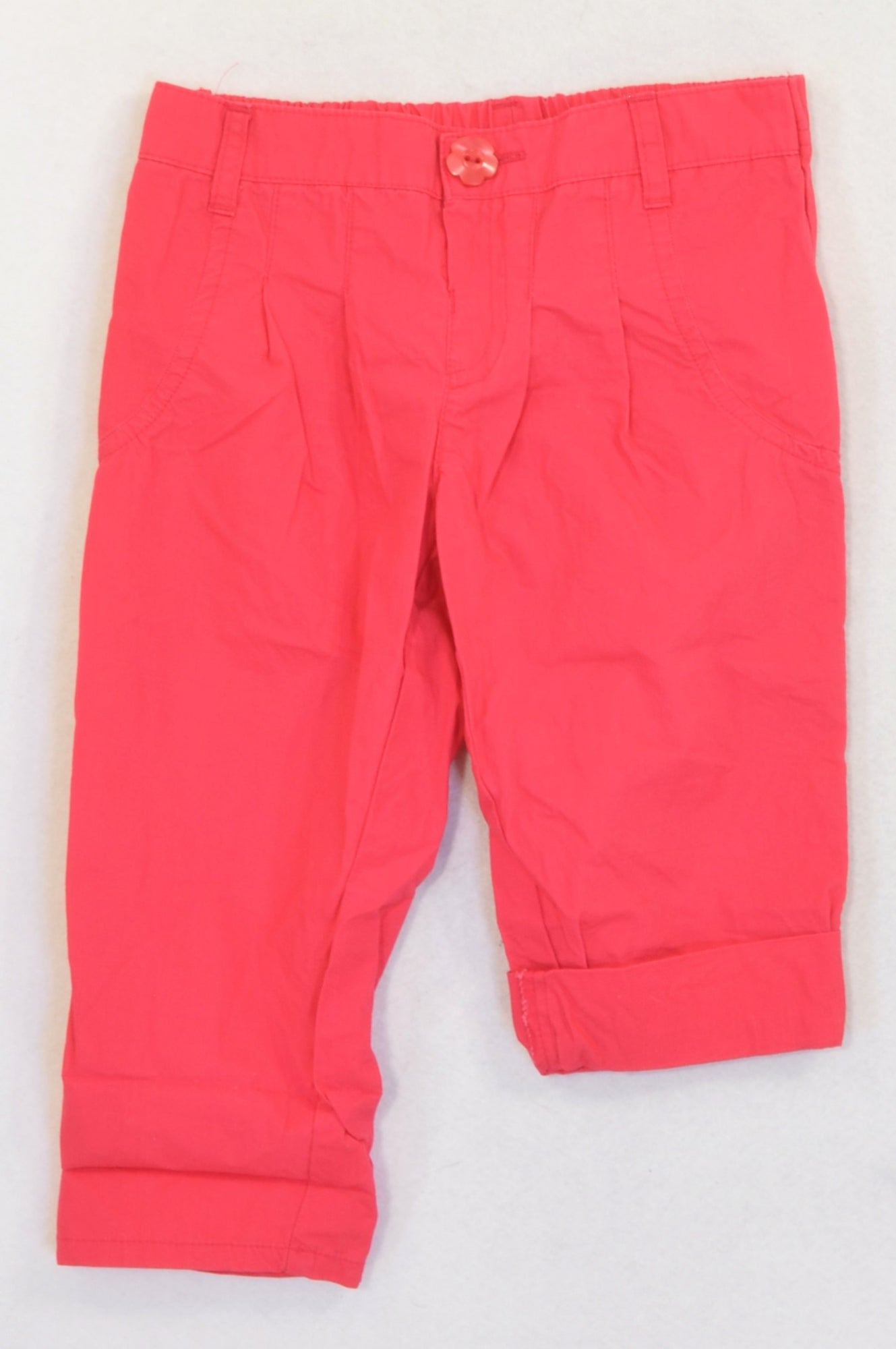 Woolworths Lightweight Cerise Pleat Front Pants Girls 18-24 months