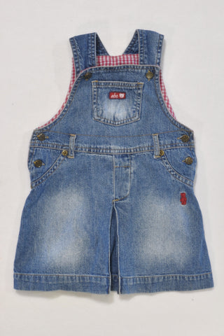 ABC Denim Dungarees Dress Girls 12-18 months