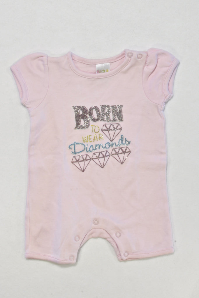 New Diamonds Romper Girls 0-3 months