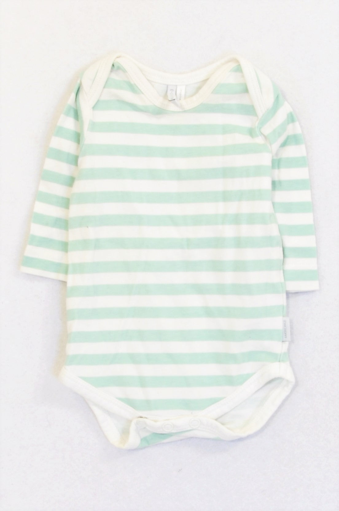 Earthchild Mint Striped Baby Grow Unisex 0-3 months