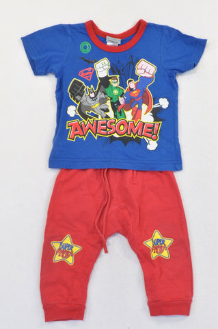 Edgars Blue & Red Superhero Outfit Boys 9-12 months