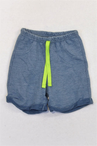 Edgars Dusty Blue Green Drawstring Shorts Boys 9-12 months