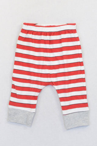 Woolworths Red Stripe Harem Pants Boys 3-6 months