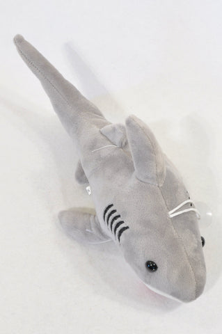 Unbranded Grey Shark Plush Toy Unisex All Ages