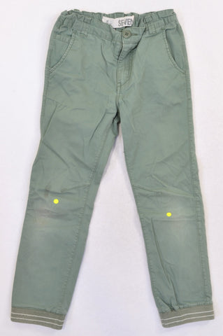 Cotton On Dusty Green Cuffed Chino Pants Boys 6-7 years
