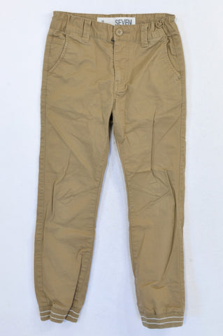 Cotton On Caramel Cuffed Chino Pants Boys 6-7 years