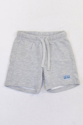 Naartjie Grey Logo Patch Shorts Boys 18-24 months