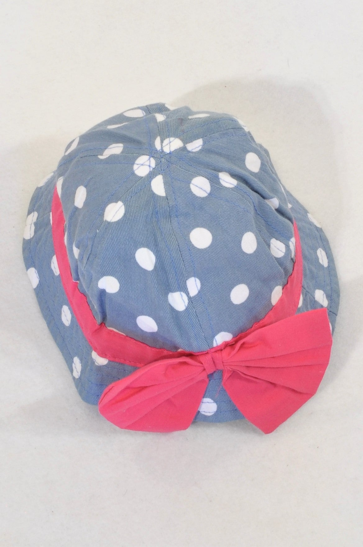 Edgars Polka Dotted Big Bow Hat Girls 3-6 months