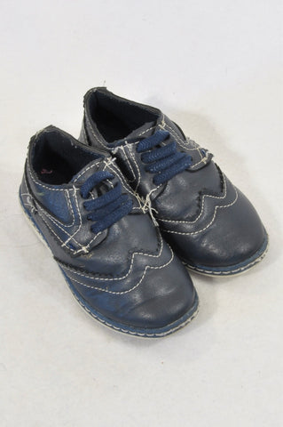 Jet Size 5 Navy Vintage Panel Detail Shoes Boys 18 -24 months