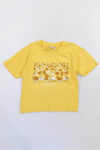 Unbranded Yellow Moose Galore Vancouver T-shirt Unisex 5-6 years