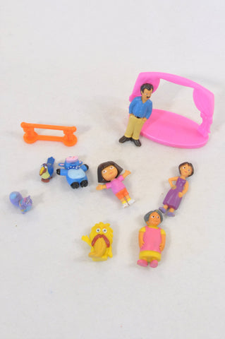 Dora The Explorer Cake Topper Figurines Set of Toys Unisex 3-7 years