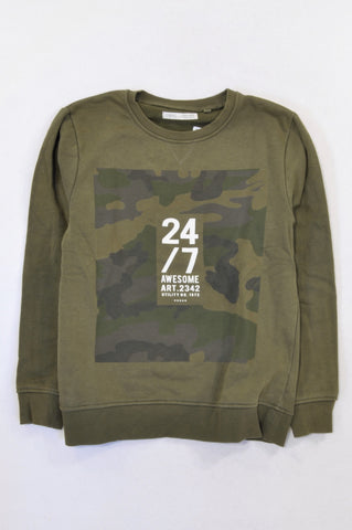 Next Olive Camo 24/7 Awesome Top Boys 9-10 years
