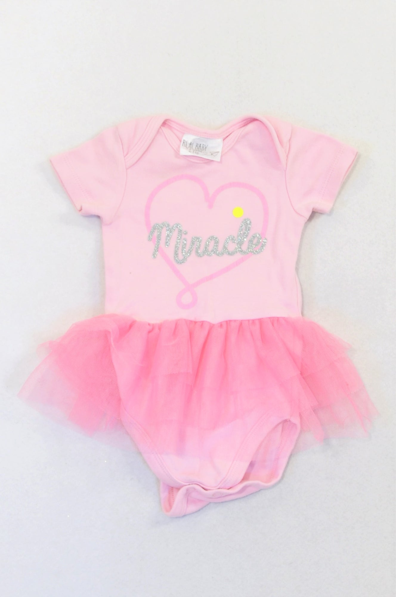 Pick 'n Pay Pink Tutu Detail Miracle Baby Grow Girls 3-6 months
