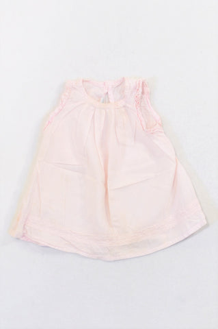 Naartjie Soft Pink Lightweight Lace Detail Tunic Blouse Girls 12-18 months