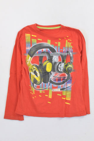 Woolworths Red Earphones T-shirt Boys 9-10 years
