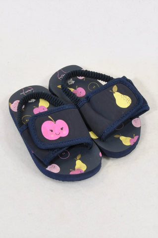 b0429697df4a Woolworths Size 4 Navy Apples   Pears Strap Shoes Girls 12-18 months