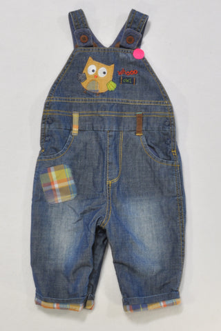 Mothercare Denim Lined Dungarees 0-3 months