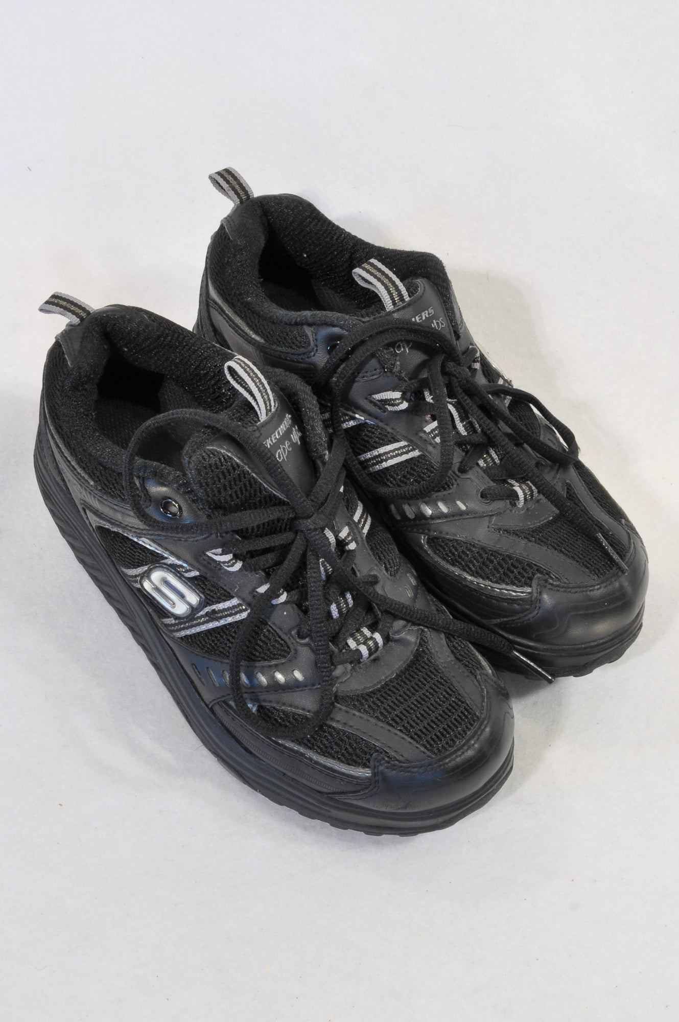 Skechers Size Y3 Black Shape Up Shoes Girls 7-16 years