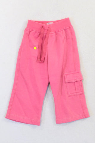 Ackermans Pink Cargo Track Pants Girls 3-6 months