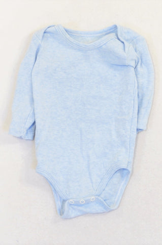 Woolworths Baby Blue Long Sleeve Baby Grow Boys 3-6 months