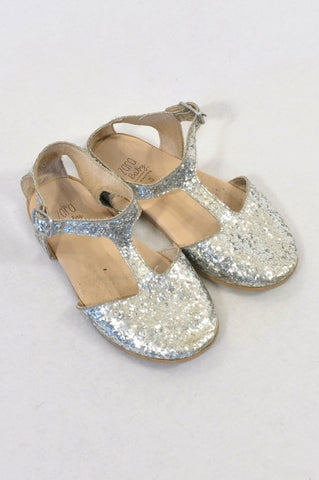 Zara Size 6 Glitter T-Bar Shoes Girls 18 months to 3 years
