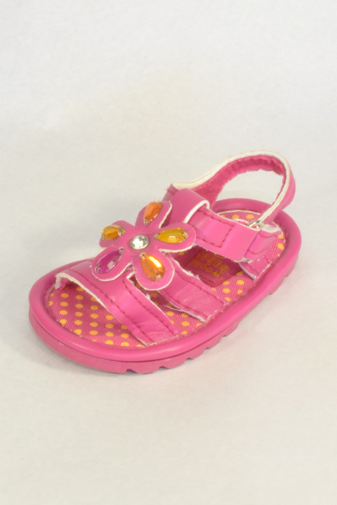 Woolies Pink Jewel Sandals Girls 3-6 months