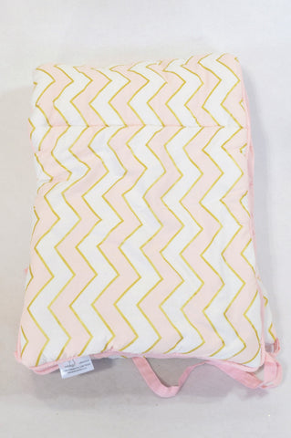 Studio Collection Gold & Pink Zig Zag Cot Bumper Bedding Girls N-B to 2 years