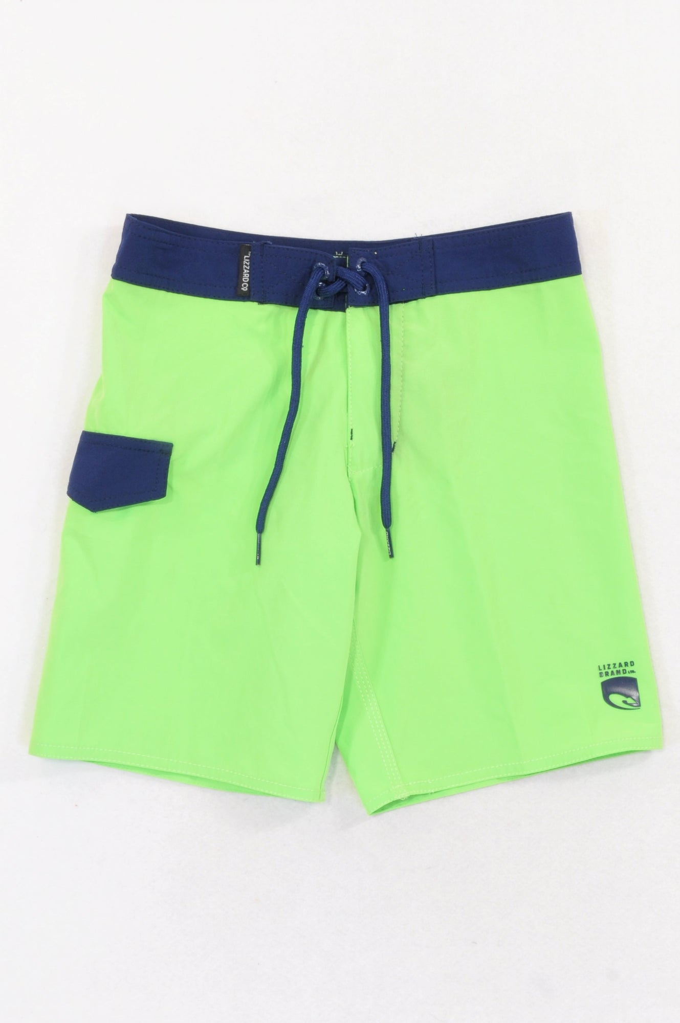 a0af9a317d Lizzard Lumo Green & Navy Swim Shorts Boys 7-8 years – Once More