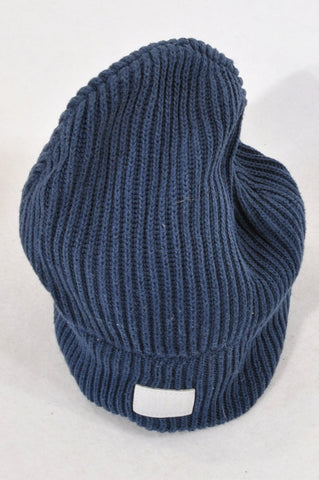 Earthchild Navy Ribbed Knit Beanie Girls 7-14 years