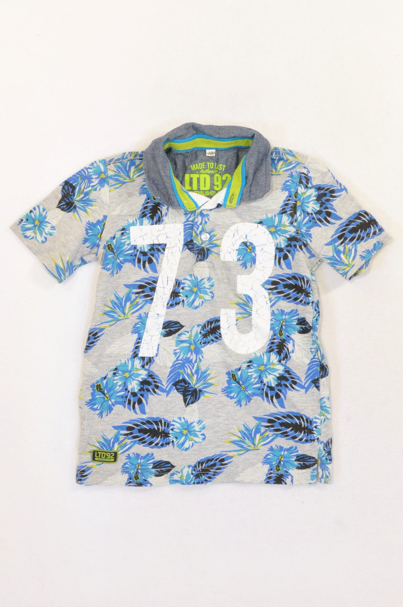 Truworths Blue Tropical Golf T-shirt Boys 5-6 years