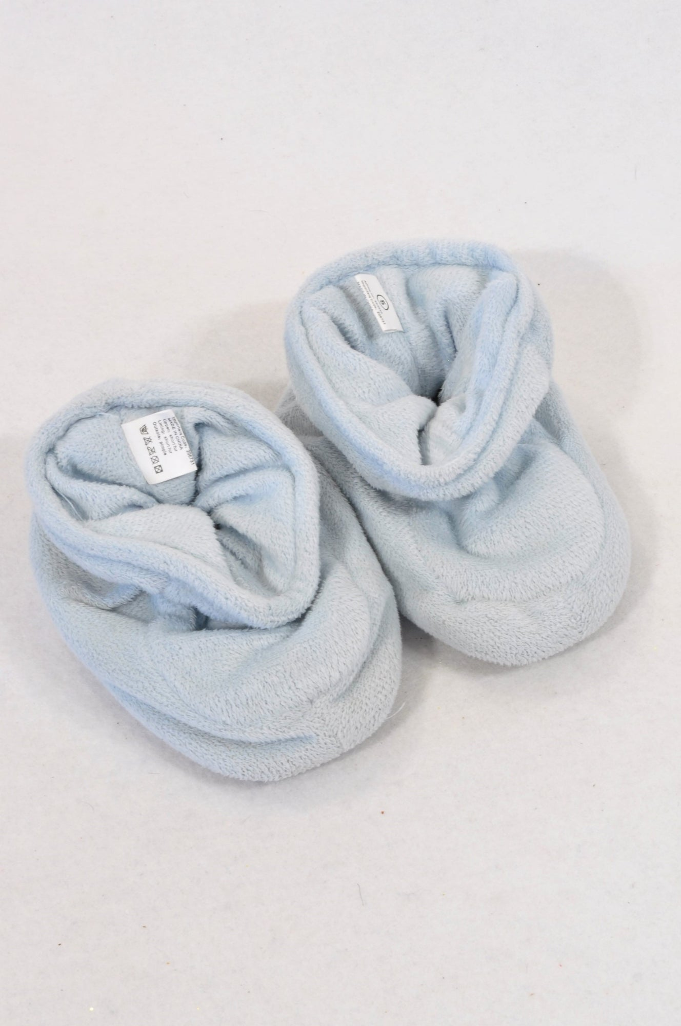 Unbranded Size 4 Light Blue Soft Slippers Unisex 12-18 months