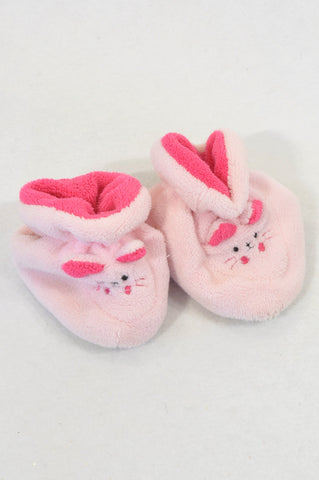 Ackermans Size 1 Dual Tone Pink Kitty Slippers Girls 3-6 months