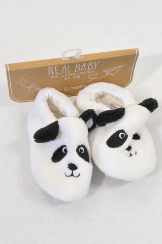 New Pick 'n Pay Size 2/3 Panda Slippers Unisex 6-12 months