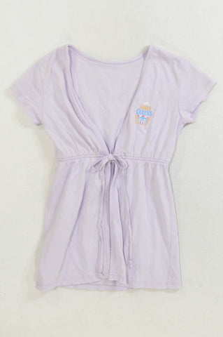0419661cd Woolworths Lilac Sister Queens Summer Dressing Gown Girls 3-4 years