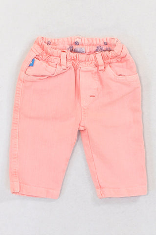 7 Ounce Coral Stretch Jeggings Girls 3-6 months
