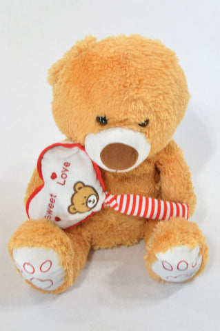 Unbranded Brown Sweet Love Teddy Bear Plush Toy Unisex 3 months-10 years
