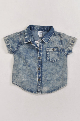 New Ackermans Acid Wash Lightweight Shirt Boys 6-12 months