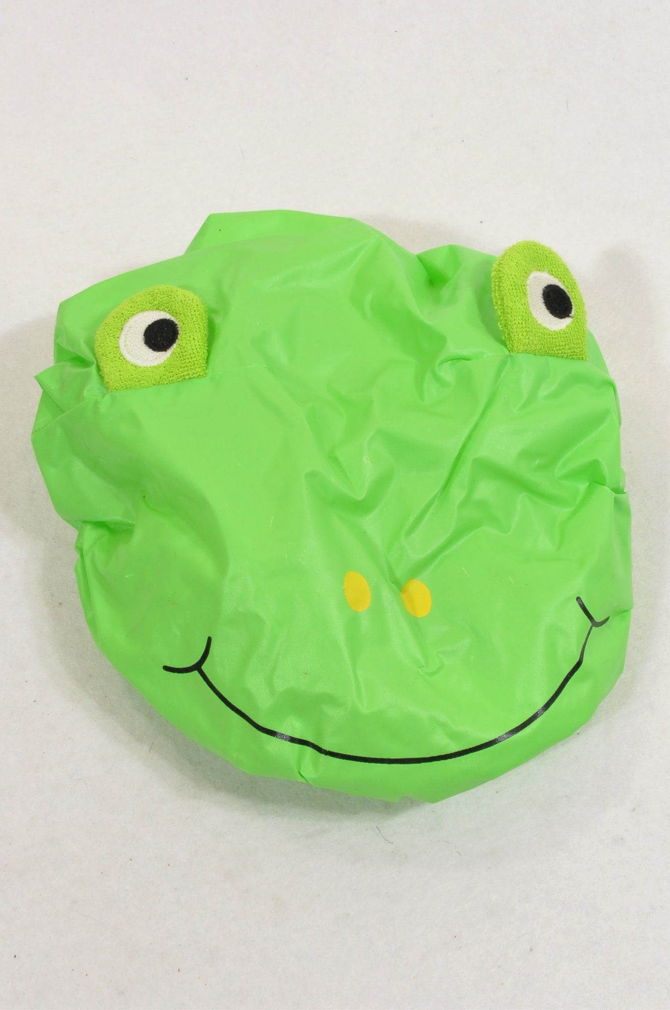 Unbranded Green Frog Shower Cap Unisex 3-10 years