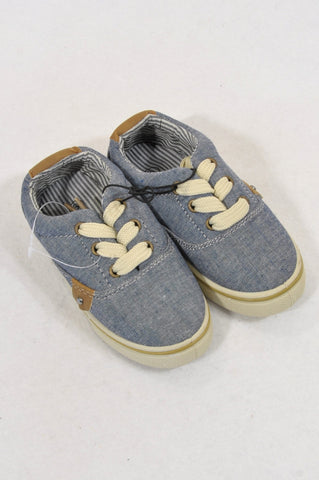 New Originals Size 6 Cream Trim Lace Up Shoes Boys 18 months to 3 years