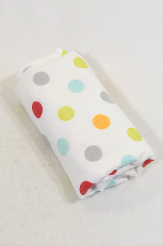 Yeah Baby Multi Color Dotted Receiving Blanket Unisex N-B to 2 years