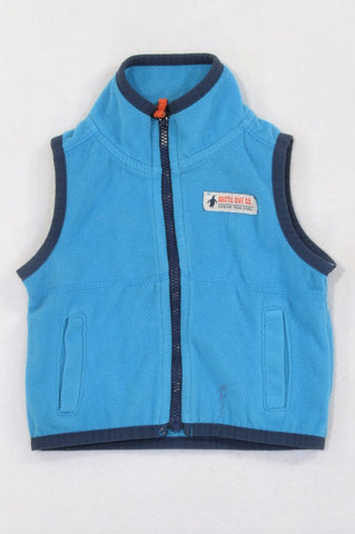 Carter's Blue Fleece Navy Trim Body Warmer Boys 0-3 months