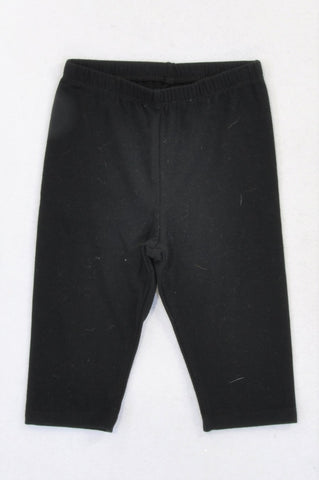 New Woolworths Basic Black Cropped Leggings Girls 2-3 years