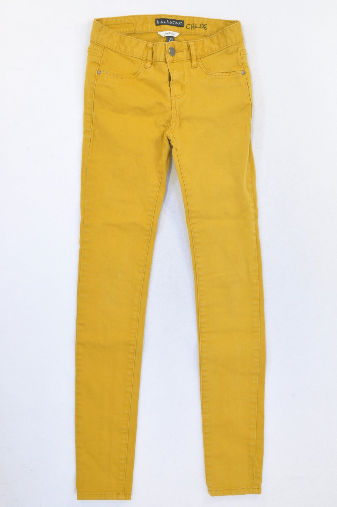 Billabong Deep Mustard Skinny Jeans Girls 12-13 years