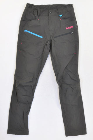 Bergans Of Norway Dark Grey Lightweight Cargo Adventure Pants Girls 12-15 years
