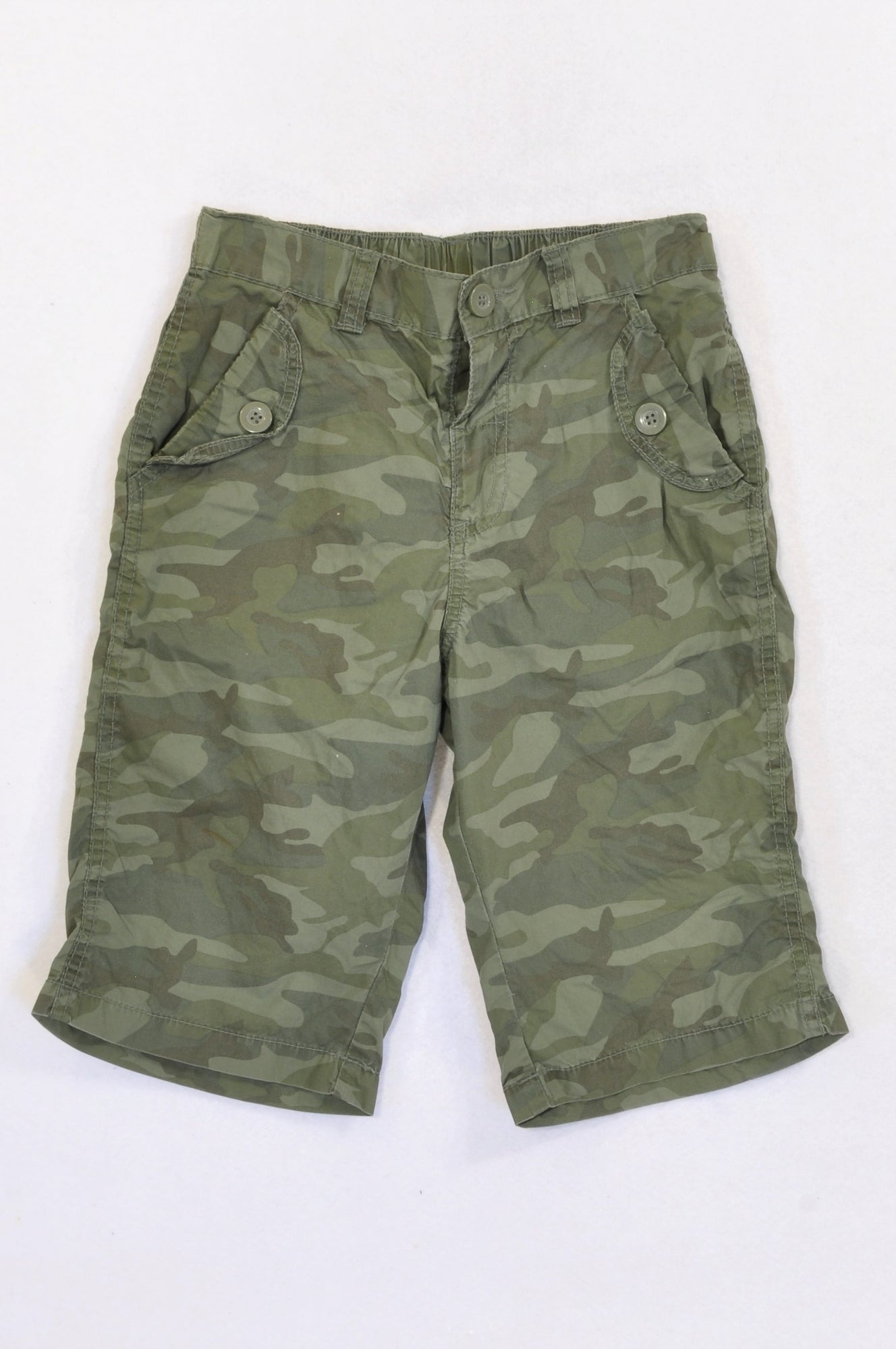 Woolworths Olive Camo Cargo 3/4 Pants Girls 8-9 years