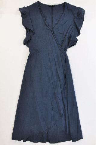 Cotton On Lightweight Navy Midi Wrap Dress Girls 15-16 years